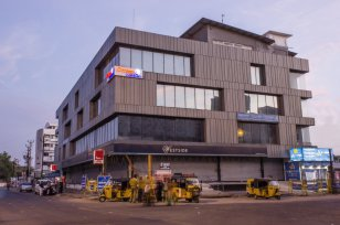 Commercial building near Central Bus STop, Trichy (India)